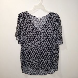 H&M feather print top